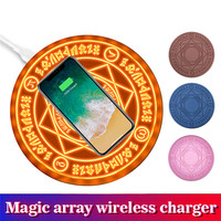 5W 10W Fast Wireless Charger Magic Array Universal Qi Wireless Charging Pad for iPhone Xs Max XR XS X 7 8 Plus Samsung S9 S8 S7