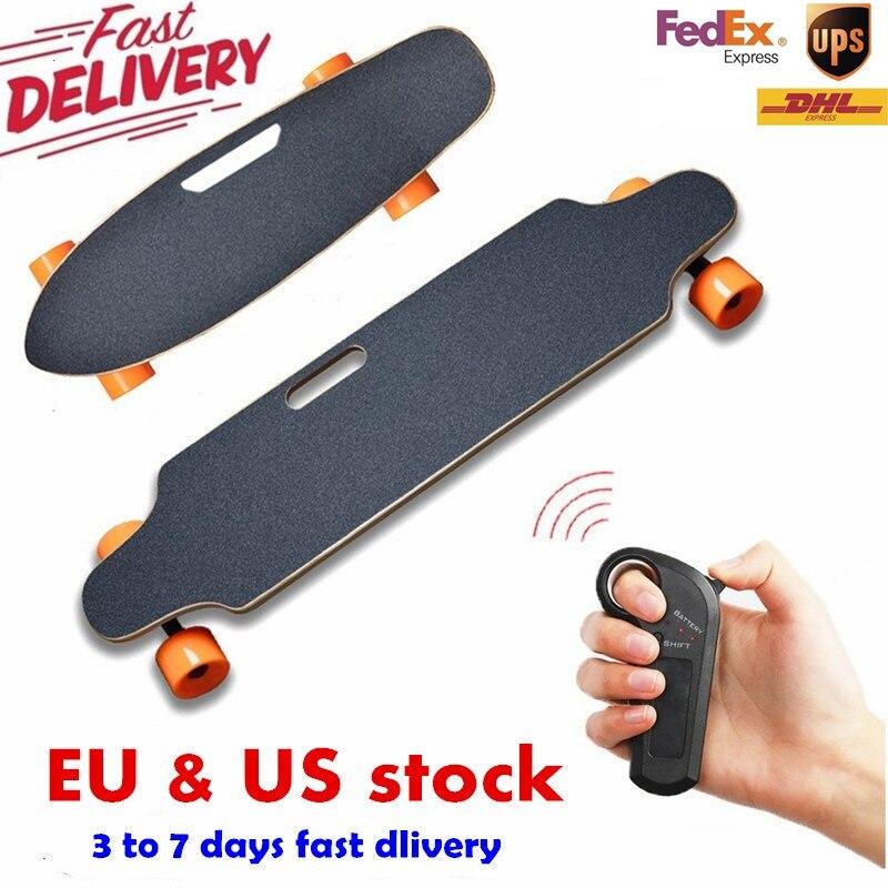 Navio dos EUA e Europa impulso Elétrico de Quatro Rodas Placa Skate Scooter de Controle Remoto Sem Fio Board hoverboard monociclo