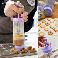 ANTS STRONG baking pastry cookie mold gun/12 flower mold 6 pastry tips biscuit cutter DIY press cake making machine