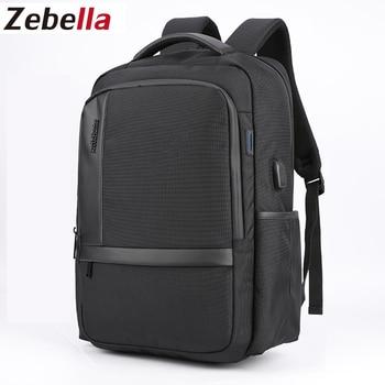 Zebella Backpack Men School Student Laptop Black Bags For Gift USB Backpack Travel Daypacks Mochila Hombre Back Pack For Male