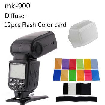 Meike MK-900 MK900 MK 900 iTTL Flash Speedlite as SB-900 For Nikon D7100 D750 D800 D810 D610 with a diffuser and 12 color filter