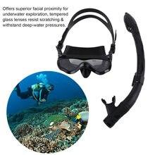 932d734fe ALOMA Seguro Crianças Máscaras de Mergulho Máscara de Mergulho Silicone  Snorkel Máscara de Mergulho Profissional Durável