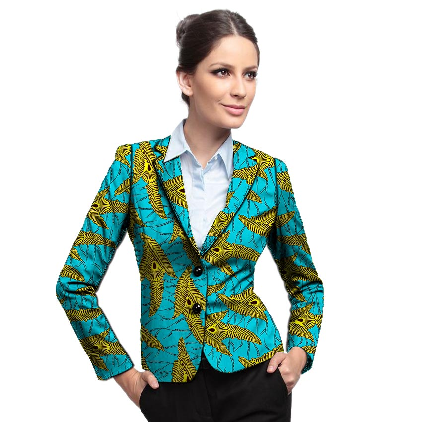 African Clothes Women's Print Blazers Business Style Ankara Fashion Suit Jackets Custom Made Wedding Jackets Formal Outfit