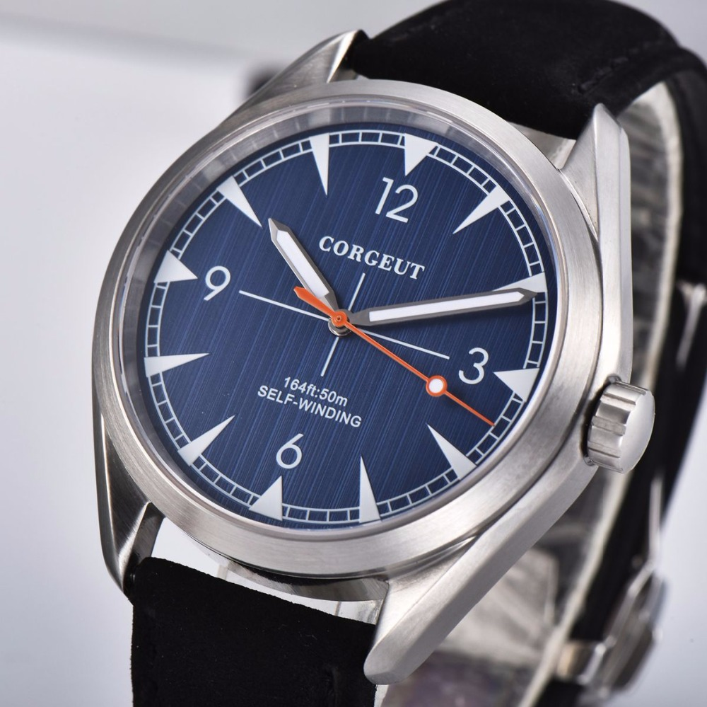 top brand fashion Corgeut 41mm men clock Miyota Automatic relogio masculino male blue Dial Sapphire Glass luxury men wristwatchtop brand fashion Corgeut 41mm men clock Miyota Automatic relogio masculino male blue Dial Sapphire Glass luxury men wristwatch