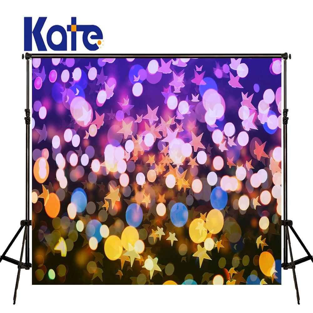Fond de Photo KATE 10ft fond de décor de saint valentin coloré étoile Bokeh fond miroitant et brillant fond de fête pour enfant