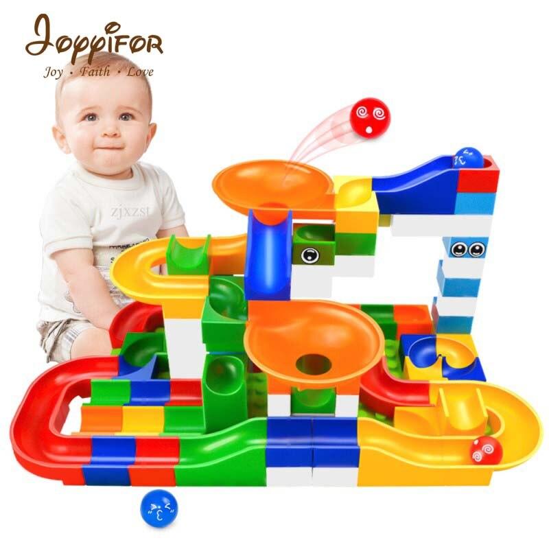 JOYYIFOR52pcs Legoings Construction Marbre Course Run Labyrinthe Boules Piste Enfants Blocs de Construction Jouet Kit DIY Éducatifs Enfants Cadeaux