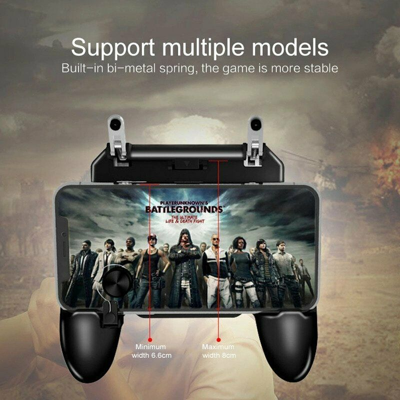 W11+ PUGB Mobile Game Controller Free Fire PUBG Mobile Joystick Gamepad Metal L1R1 Shooter Joystick for IOS Android Mobile Phone
