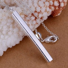 silver plated Jewelry Pendant Fine Fashion Cute 925 jewelry silver plated Straight Necklace Pendants Top Quality CP222