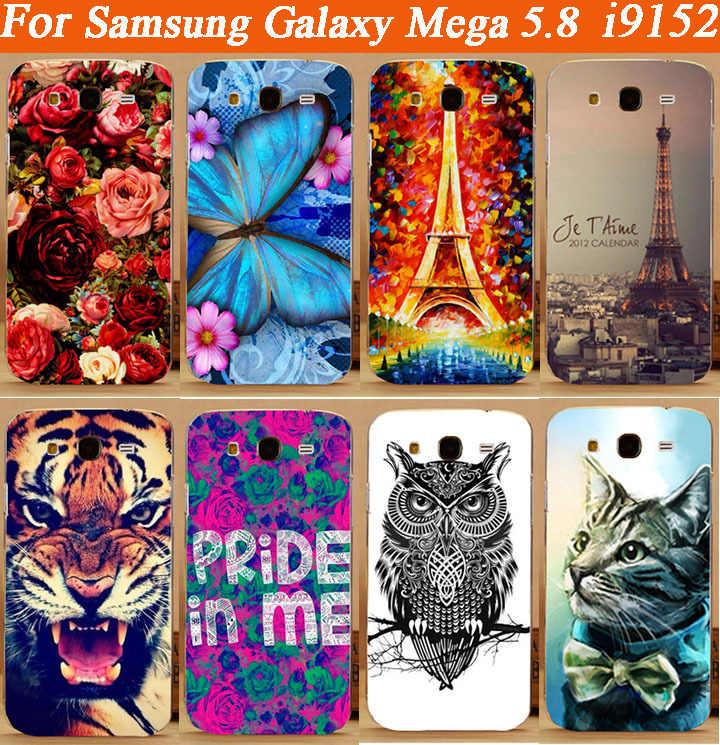 Yüksek Kaliteli diy renkli boyama Tpu şeffaf yan Kılıf kapak Samsung galaxy mega 5.8 i9152 i9150 ücretsiz kargo