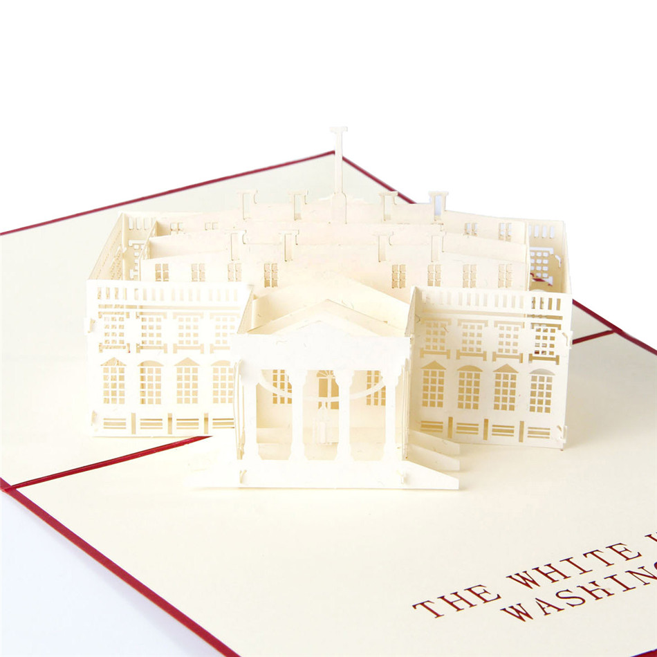 aliexpress  buy white house handmade d laser cut pop up, Birthday card