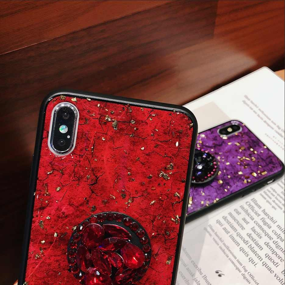 the best attitude 36e49 62224 For Iphone X XR XS MAX Glitter Diamond Ruby Sapphire Crack Fox hair Rope  Hair Ball For Iphone 6 6s 7 8 Plus Phone case capa