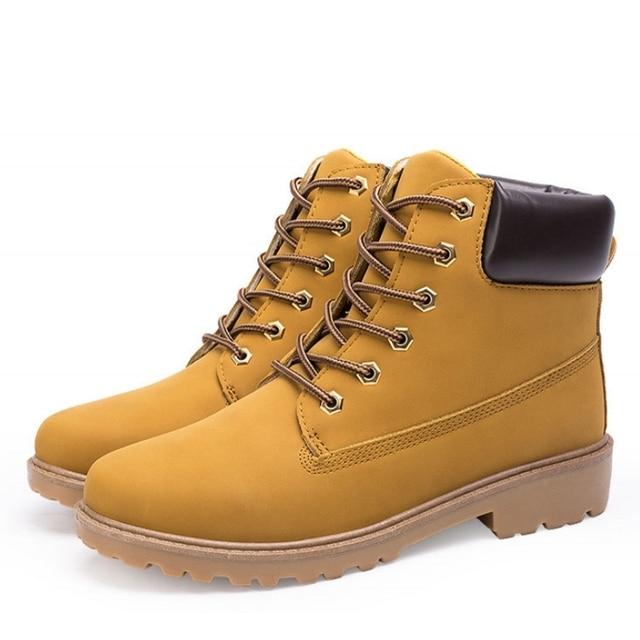 big size PU leather men boots autumn and winter man shoes ankle boot men's snow shoe martin cowboy man fur velvet flats
