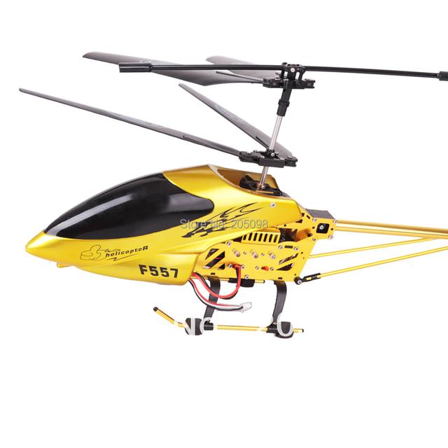 Envío gratuito cena gran helicóptero 73 cm 3.5CH rc helicóptero con giro incorporada del girocompás r / c helikopter SF557A puede elegir cámara