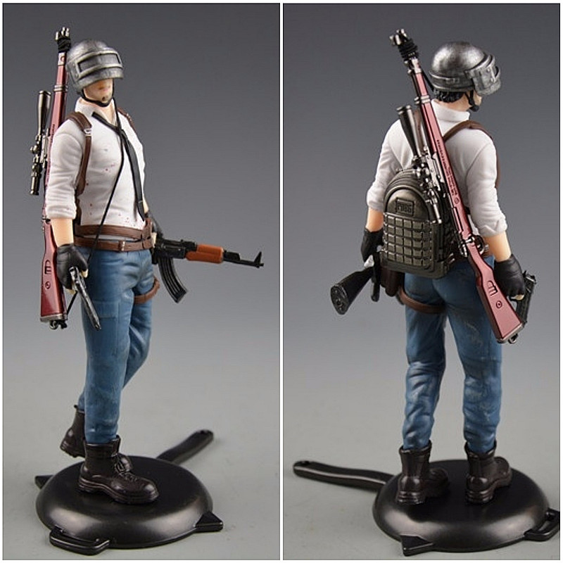 PUBG Playerunknown's Battlegrounds Around 6 inch doll Male role spot to eat chicken tonight plastic model 16 style matching
