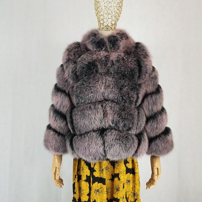 D'hiver cou O Manteau Renard Chaud Épais Pelt De Femmes Réel Parka Nouvelles 1 Fox Mode 2019 Luxe Naturel Vêtements Veste Silver Fourrure wvpZFf