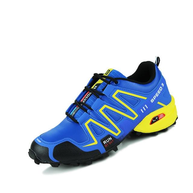 Горячие продажи новый дизайн, прочный водонепроницаемый мужской обуви весна осень нескользящей противоударный поглощения повседневная обувь chaussure homme max95