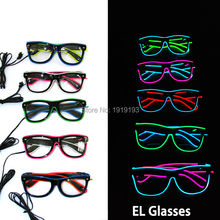 New Style Year Decorative European Favor Bright Sound Activated EL rope Sunglasses Novelty Lighting LED Neon Strip Glasses