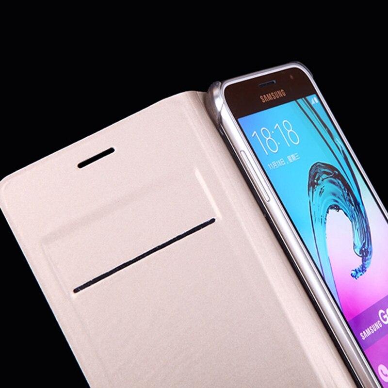 Samsung Galaxy J3 2016 J320 J320F J320H J300 Üçün İncə Dəri - Cib telefonu aksesuarları və hissələri - Fotoqrafiya 3