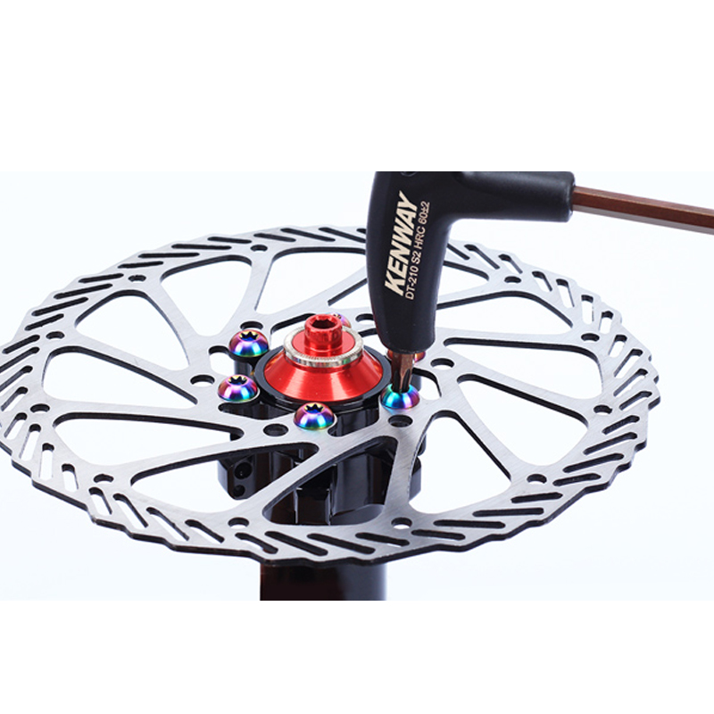 12pcs M5x10mm Disk Brake Rotor Bolts T25 Torx Titanium Bicycle Parts