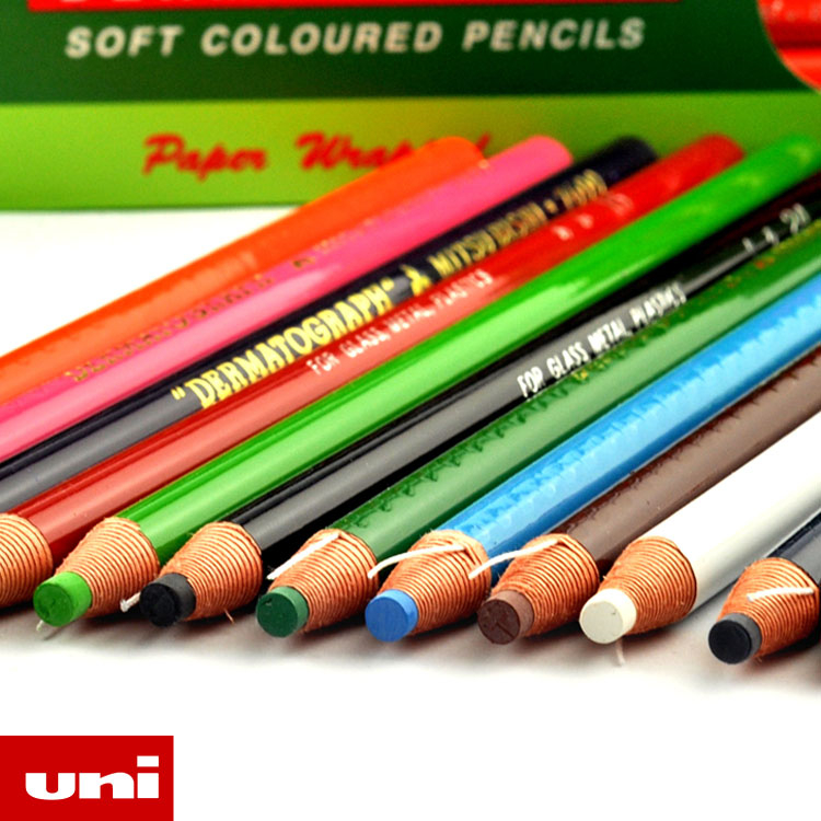 Uni Colored Pencil Crayon Art Drawing Crayons School Stationery Office Art Supplies Oil Crayons Rip By Hand Crayon 7600 12 24 colors set thin handle wax crayon children drawing paint silky colored pen crayons art school supplies stationery page 5