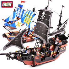 Pirates Ship Bricks Black Pearl Building Blocks Compatible Legoes Model Educational Christmas Gifts Toys For Children