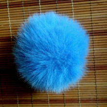 12 pcs/lot Colorful Cute Faux Raccoon fur 6cm Pompon Pendant DIY handmade Fashion Jewelry Accessories