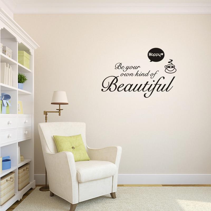 Beautiful vinyl sticker Removable custom made waterproof Bedroom living room home decor pvc Generation wall stickers