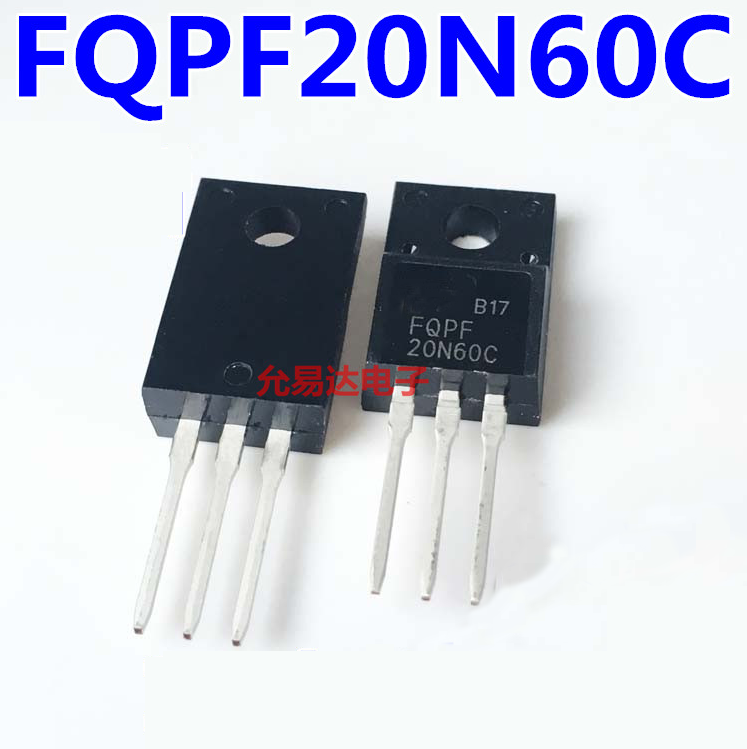 1pcs FQPF20N60 TO220 20N60 20N60C FQPF2060C FQPF20N60C 20A 600V Straight Insert Plastic Seal TO-220F MOS FET