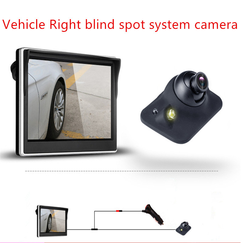 Car camera for Right left blind spot system Car rear view camera For fiat punto abarth 500 stilo ducato palio bravo Car-Styling car camera for right left blind spot system car rear view camera for renault clio megane 2 3 duster captur logan car styling