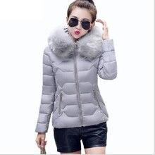f061f2db4f6 Для женщин s зимние куртки и пальто 2018 Для женщин парки Толстые теплые  искусственной меховой воротник