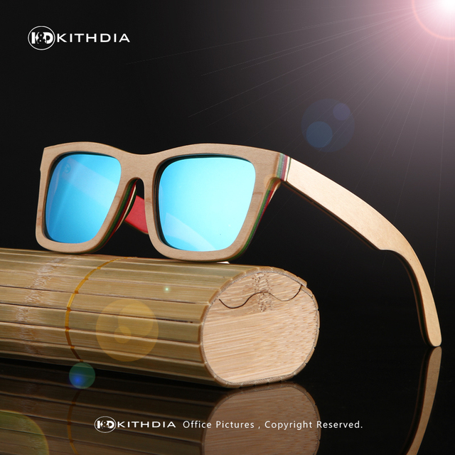 KITHDIA  Free Shipping Handmade Natural Wood Sunglasses Men and Women Wooden polarized sunglasses Unisex wood sun glasses
