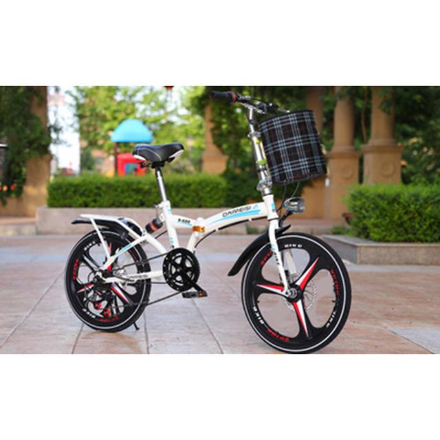 Składany rower 20-Cal o zmiennej prędkości sieci hamulec tarczowy dla dorosłych z mężczyzn i kobiet Super-światła studenci przenoszenia małe rowery