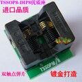 TSSOP8 para AdapterTL866A adaptador TL866CS programador TSSOP8 DIP8 para DIP8 IC adaptador de Tomada de Teste 0.65mm Pitch