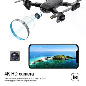 "Image 2 - Teeggi M70 RC Drone עם מצלמה HD 4K מצלמה 1080P FPV Selfie Dron Quadcopter מקצועיים לעומת E58 VISUO XS809HW XS809S מל ""טים"