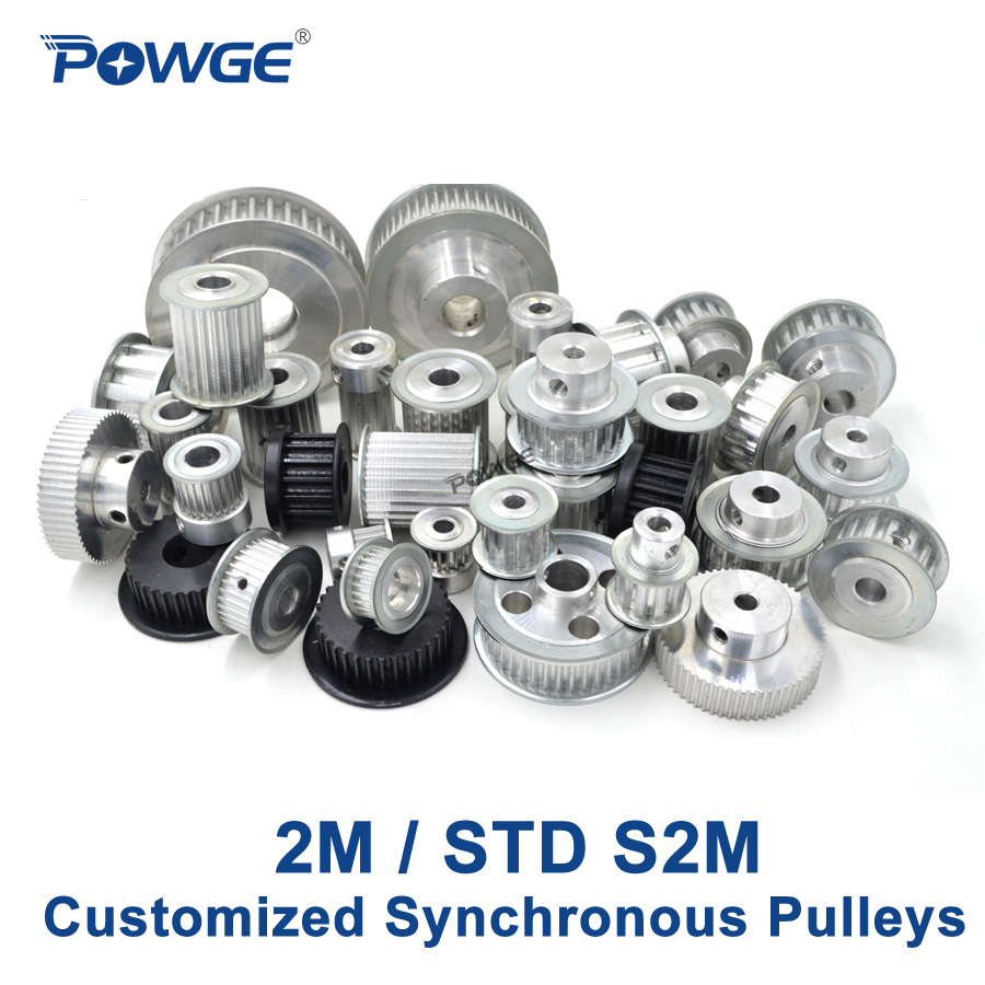 POWGE 2M STD S2M Synchronous pulley pitch 2mm wheel Gear Manufacture Customizing all kinds of Arc 2M S2M Timing pulley Belt osc 5032 2m 2mhz 2 000mhz 5x3 2mm page 1