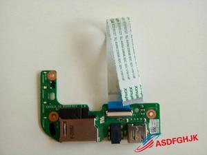 Leitor de cartões sd e áudio usb, placa original para asus r557l x554l, 60nb0620-io1030, testado completamente ok