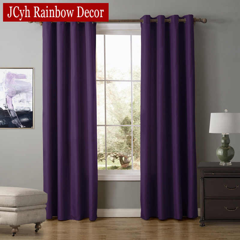 JCyh Modern Blackout Curtains For Living Room Bedroom Finished Drapes For Window Treatment Blackout Blinds Panels