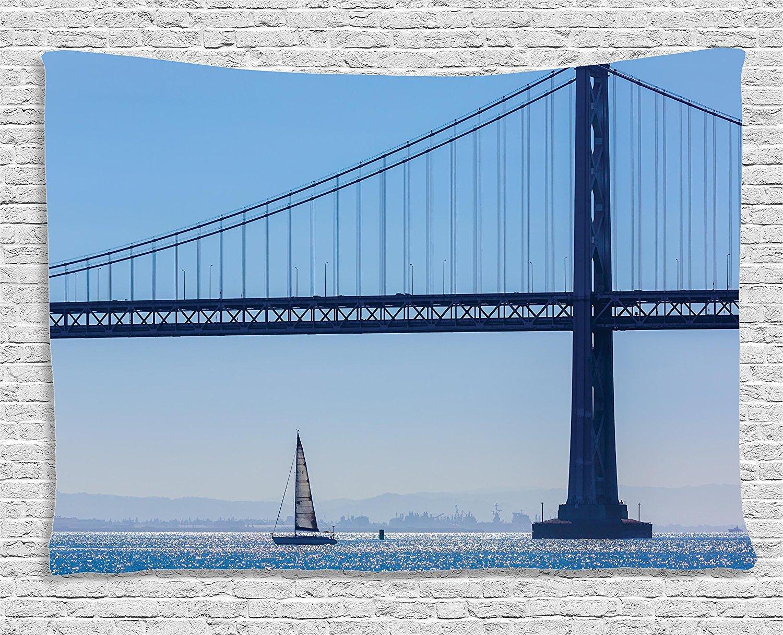Декор парусник коллекции, Сан-Франциско Мост парусник от Pier 7 в Калифорнии, США ориентир, Спальня жизни
