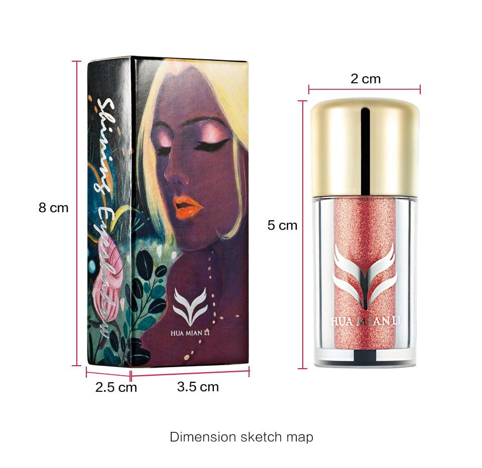 2 colori bellezza Professionale di Trucco Terra Colore Eyeshadow Palette Glitter