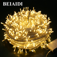 Thrisdar 100M 800 LED Bulb Christmas Fairy String Light Garland 8 Function Outdoor Garden Patio Party Xmas Wedding Holiday Light