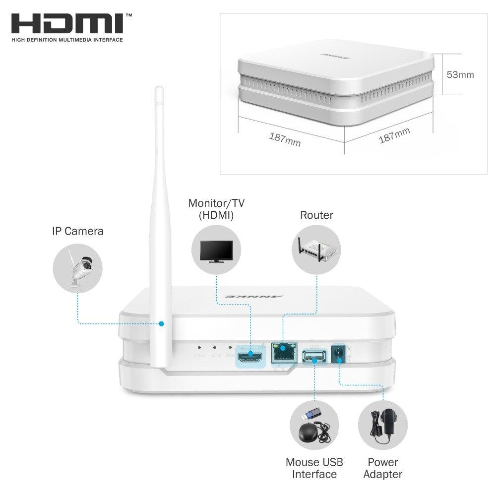 ANNKE 8CH 1080P FHD Беспроводной NVR системы видеонаблюдения Системы с 4X2 Мп пуля уличная водонепроницаемая IP WI-FI камеры комплект домашнего видеонабл...