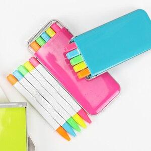 5 штук упак. конфетные флюоресцентные цвета маркер авторучка ароматизатор Хайлайтер для рисования Акварельная ручка Канцелярский набор