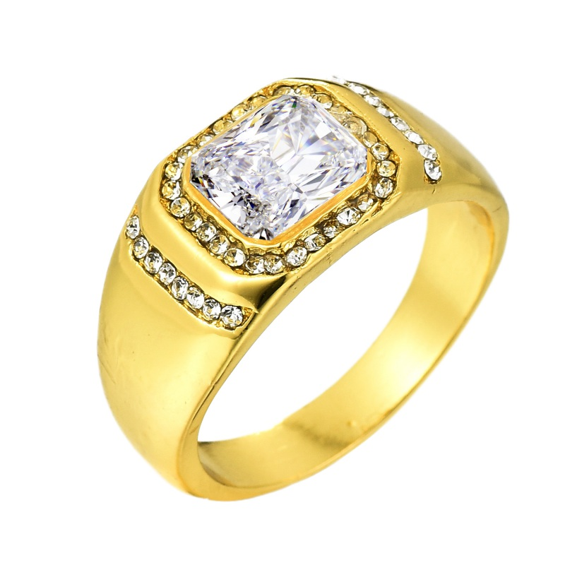Engagement Rings On Sale Newcastle: Hot Sale Men Ring Engagement Wedding Men's Gold Rings