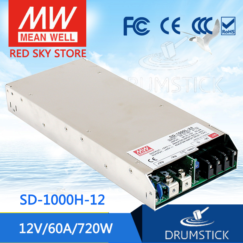 hot-selling MEAN WELL SD-1000H-12 12V 60A meanwell SD-1000 12V 720W Single Output DC-DC Converter hot selling mean well sd 350d 5 5v 60a meanwell sd 350 5v 300w single output dc dc converter