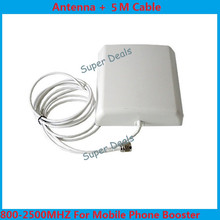 High gain 9dBi Indoor directional panel antenna with 5m cable for signal repeater booster , gsm antenna 2g 3g antenna