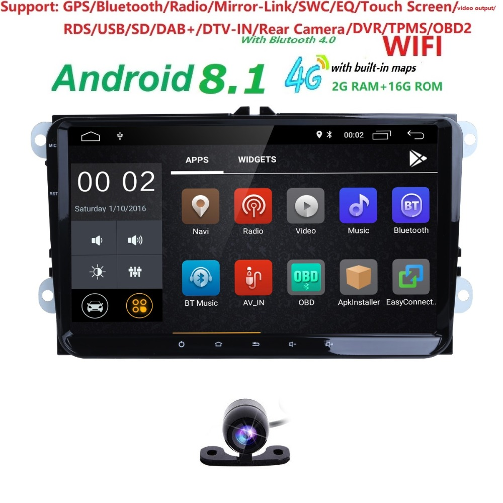 2+16 9Android8.1 Car NODVD Player Stereo Radio for VW GOLF 5 Golf 6 Polo Passat CC Jetta Tiguan Touran GPS Navigation SWC BT SD2+16 9Android8.1 Car NODVD Player Stereo Radio for VW GOLF 5 Golf 6 Polo Passat CC Jetta Tiguan Touran GPS Navigation SWC BT SD