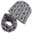 New 2017 Spring Autumn Winter 100% Cotton baby scarf hats set warm child boys girls scarf set baby caps Retail/Wholesale