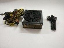 Eth zcash Шахтер золото мощность kenwei 1600 Вт с кабелем питания Eth Шахтер питания для R9 380/390 RX 470/480 RX 570/580 6 GPU карты