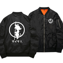 Anime Bomber Jacket Males/Boy 2017 Spring Dragon Ball Light-weight Skinny Baseball Jacket Style Zipper School Windbreaker Jacket