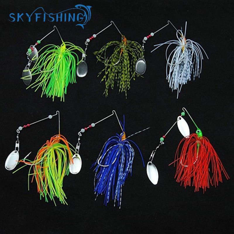 1pcs Spinner Bait 15G Metal Lure Hard Fishing Lure Spinner Lure Spinnerbait Pike Swivel Fish Tackle Wobbler Free Shipping